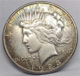 1923 S US Silver Peace Dollar