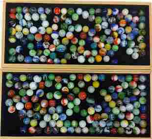 Lot of Assorted Vintage Glass Marbles