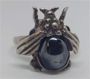 Vintage Sterling Silver Honey Bee Ring