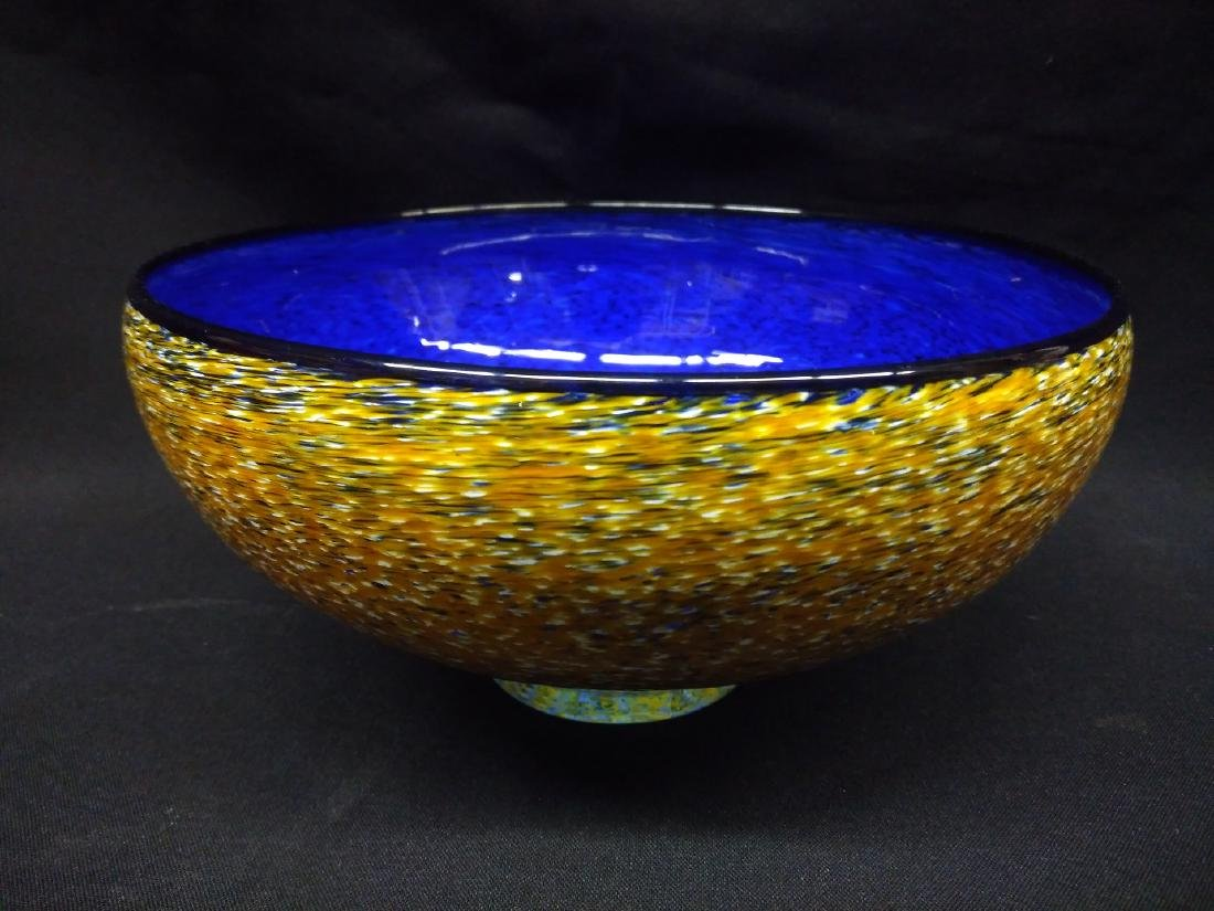 American Studio Artist Signed Glass Bowl