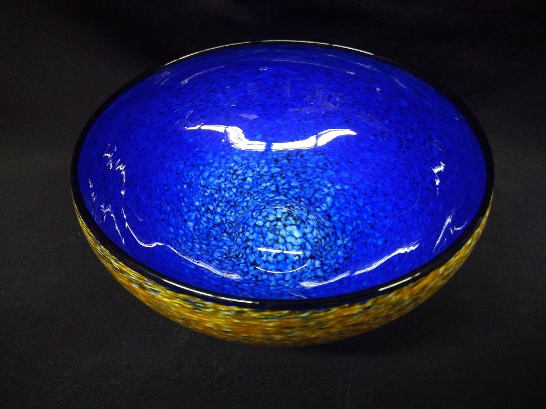 American Studio Artist Signed Glass Bowl - 2