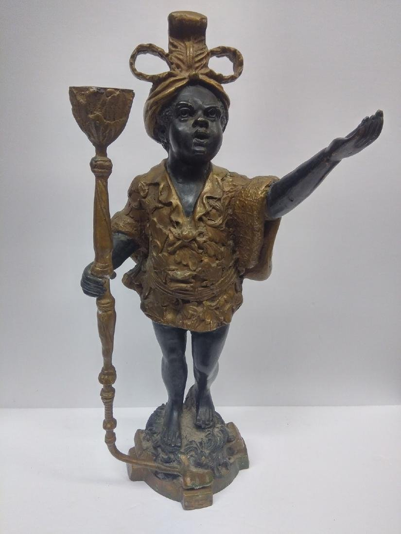 Antique Bronze Blackamoor Sculpture / Statue