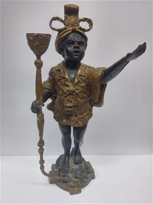 Antique Bronze Blackamoor Sculpture / Statue