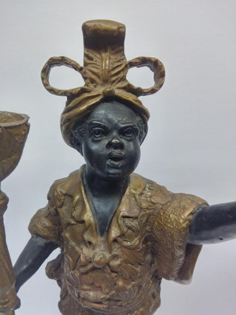 Antique Bronze Blackamoor Sculpture / Statue - 2