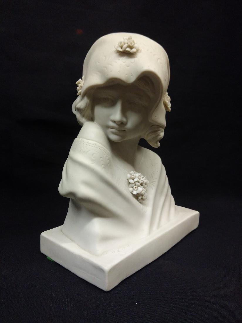 Antique French Signed Bisque Porcelain Bust