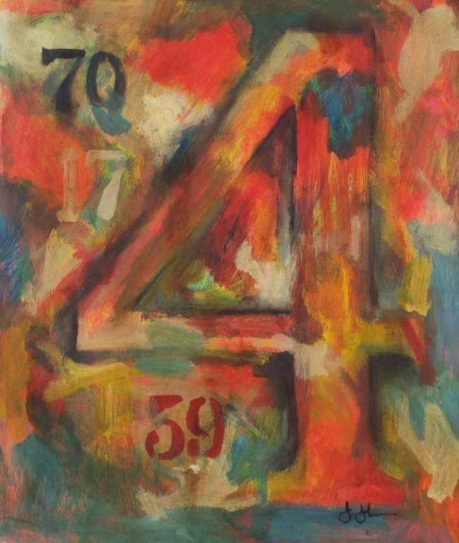 Jasper Johns Abstract Expressionism American 1930 born - 2