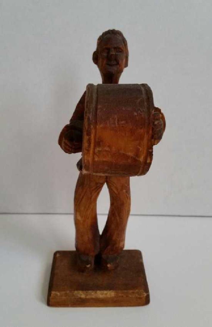 Lot of Wooden Antique Musician Sculptures - 3