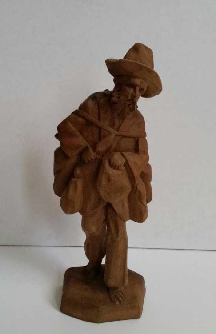 Lot of Wooden Antique Musician Sculptures - 4