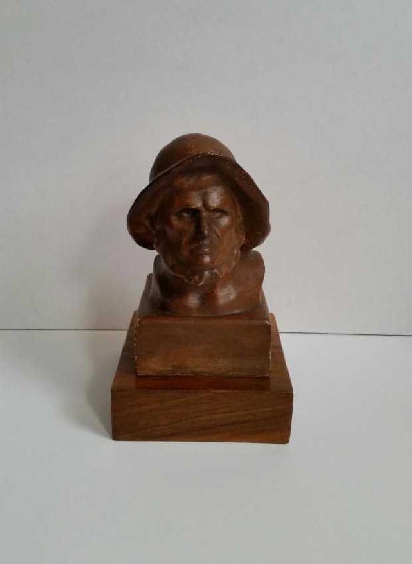 Lot of Wooden Antique Musician Sculptures - 5