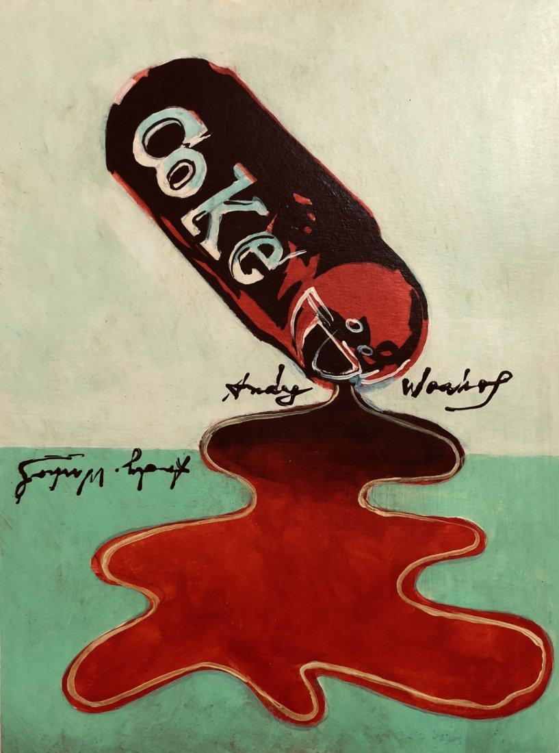Andy Warhol American Pop Art Coca Cola Signed 1928-1987