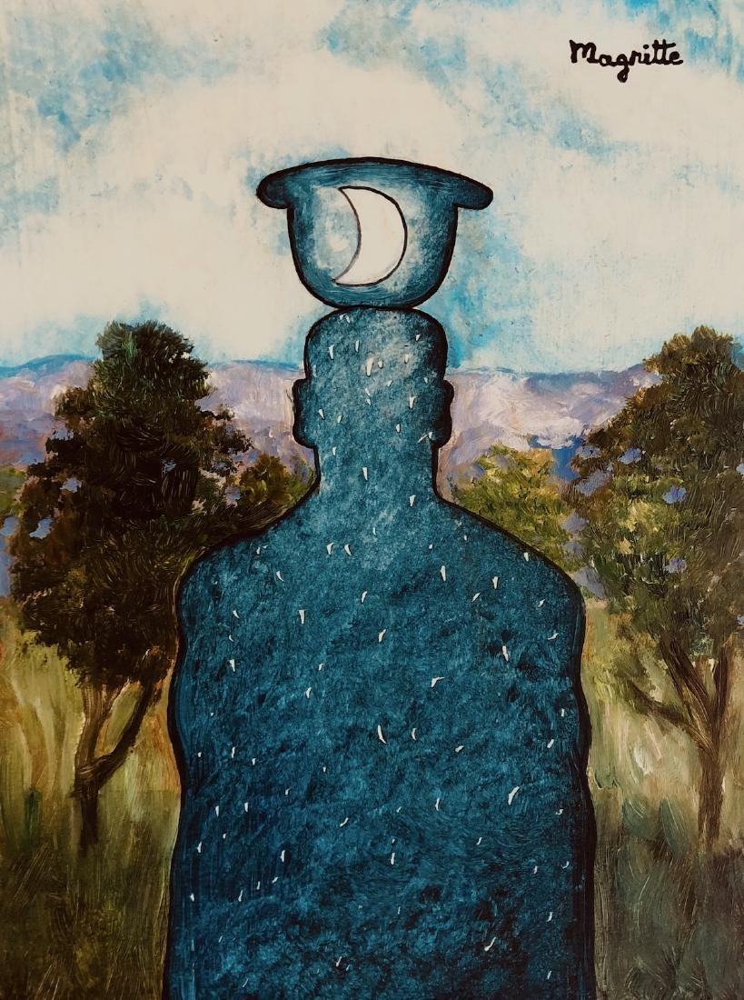 Rene Magritte Mixed Media Signed Surrealism French