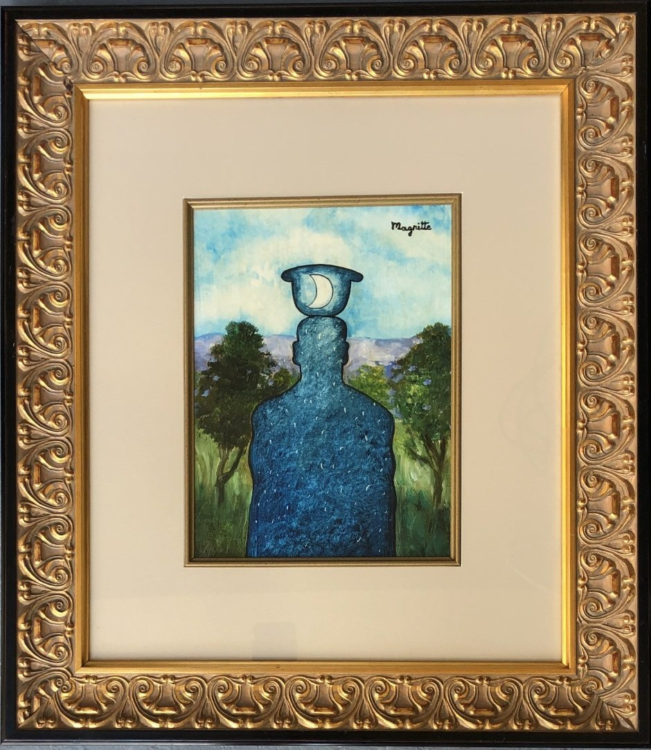 Rene Magritte Mixed Media Signed Surrealism French - 2