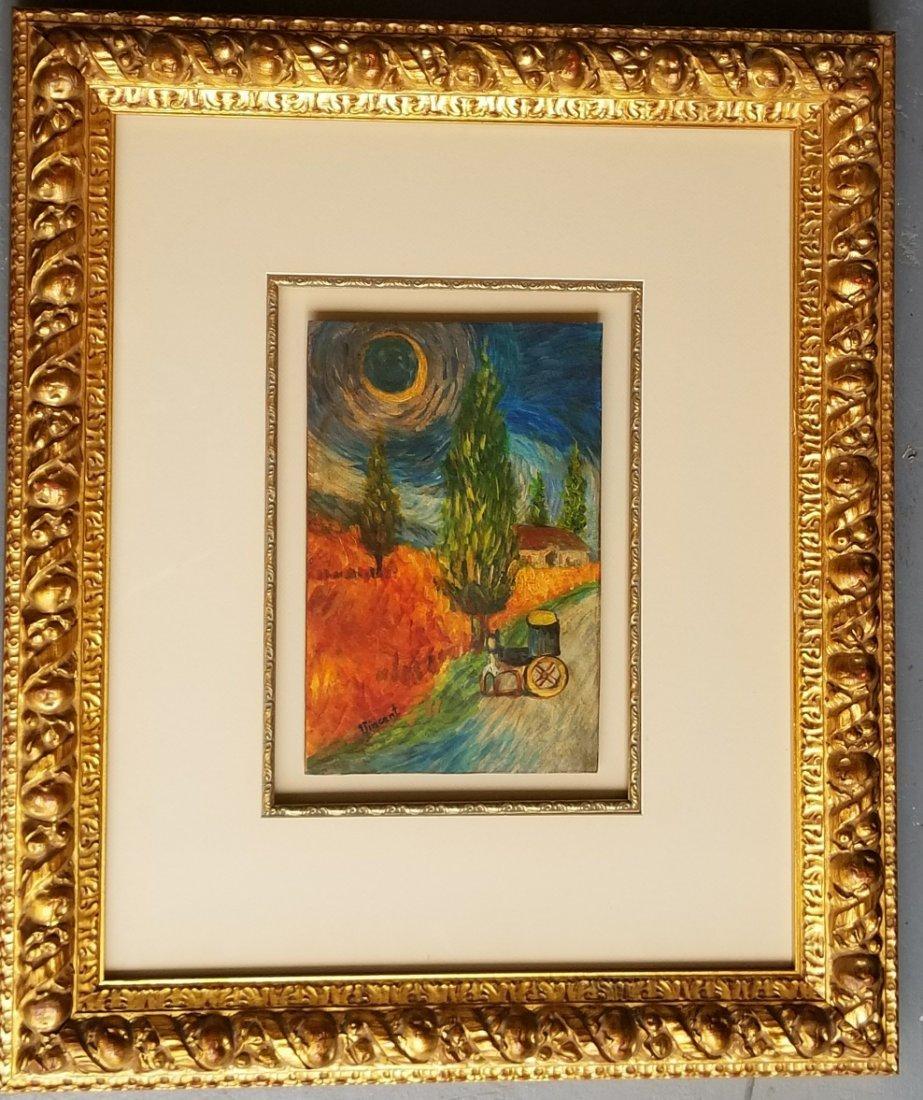 Vincent Van Gogh Landscape Dutch Impressionist Signed