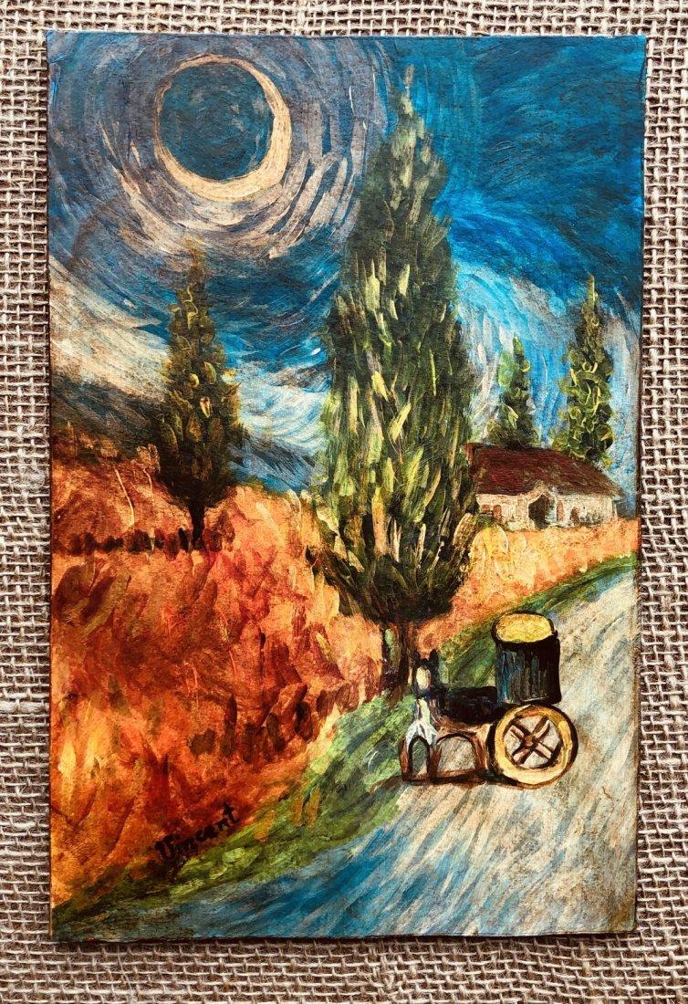 Vincent Van Gogh Landscape Dutch Impressionist Signed - 2
