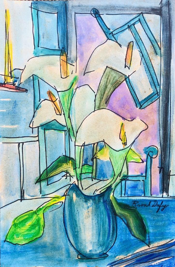 Raoul Dufy Mixed Media Drawing (1877-1953)
