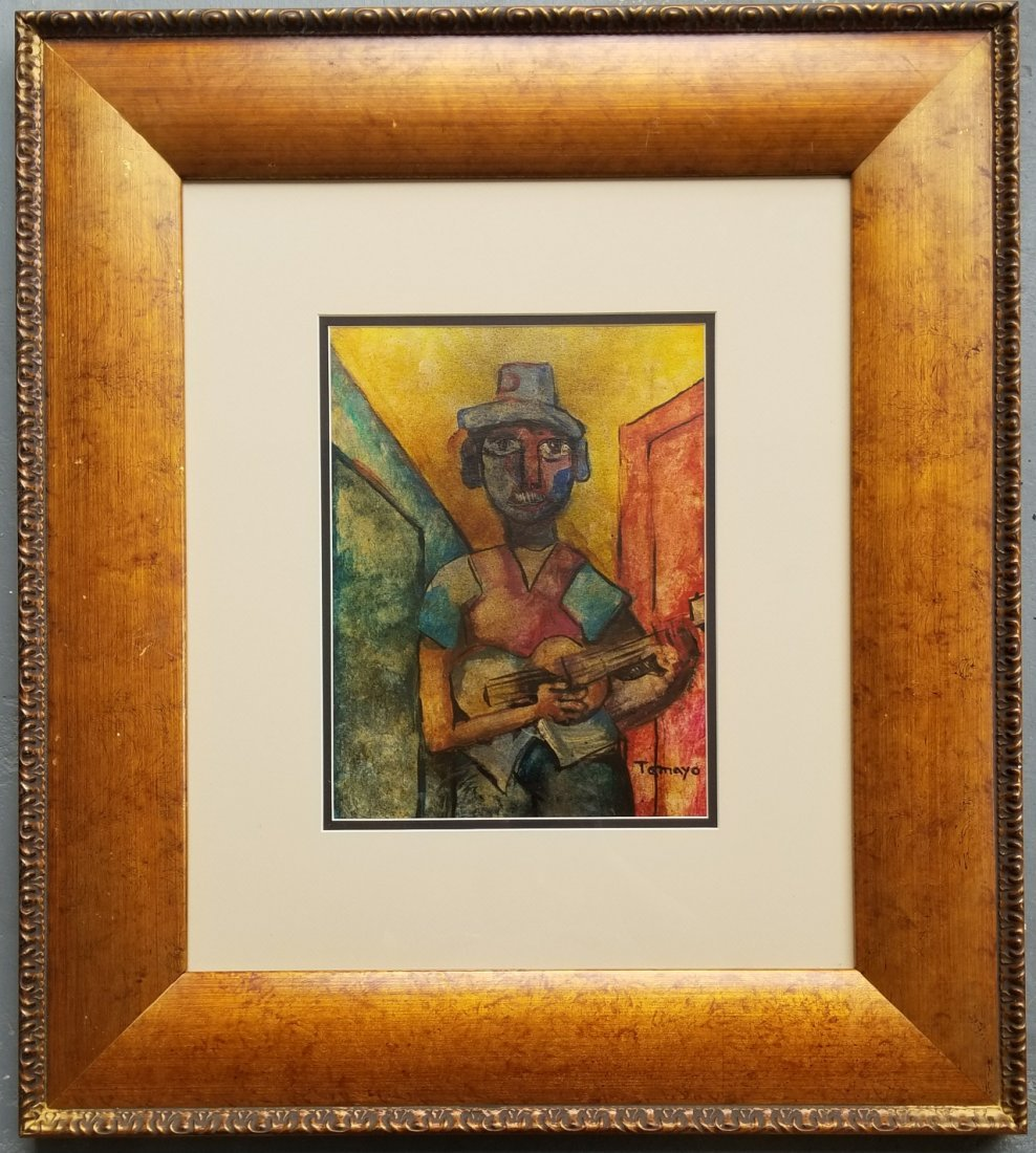 Rufino Tamayo Musician Guitar Signed Mexican 1899-1991 - 2
