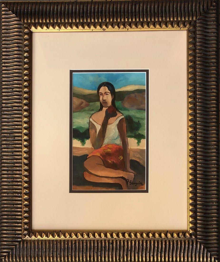 Paul Gaugin Art Post Impressionist Woman Landscape - 2