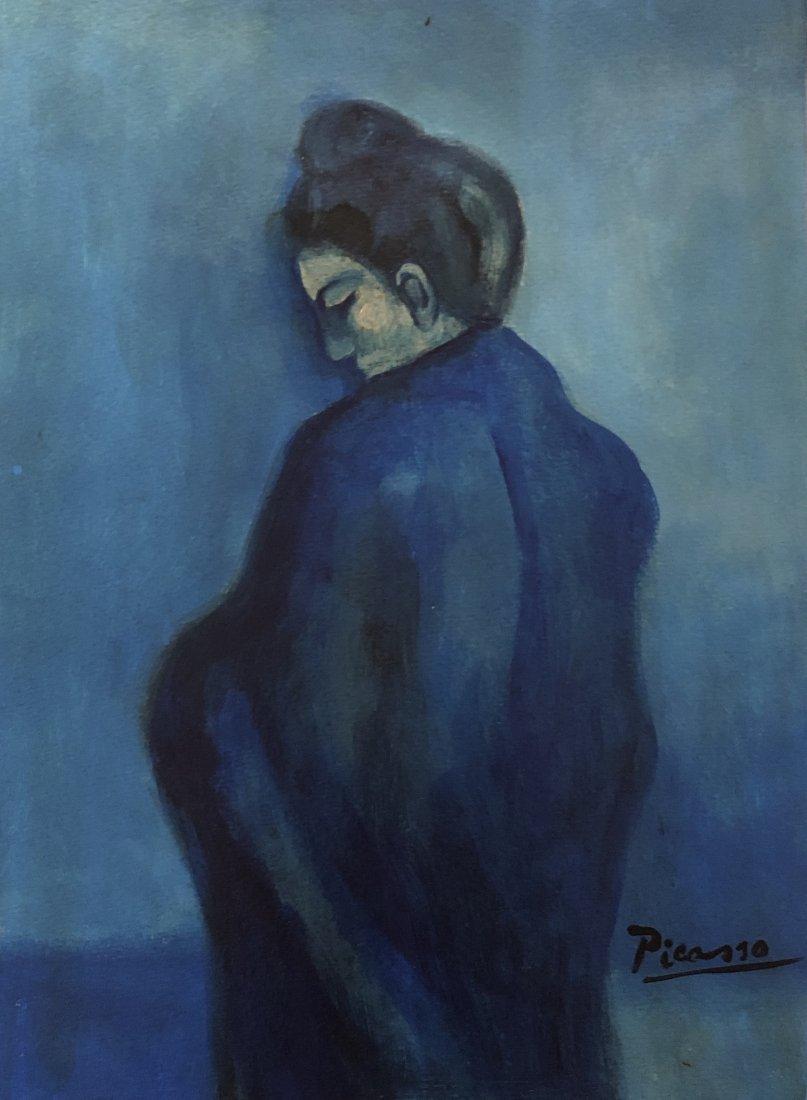 Pablo Picasso Blue Period Signed (1881-1973)