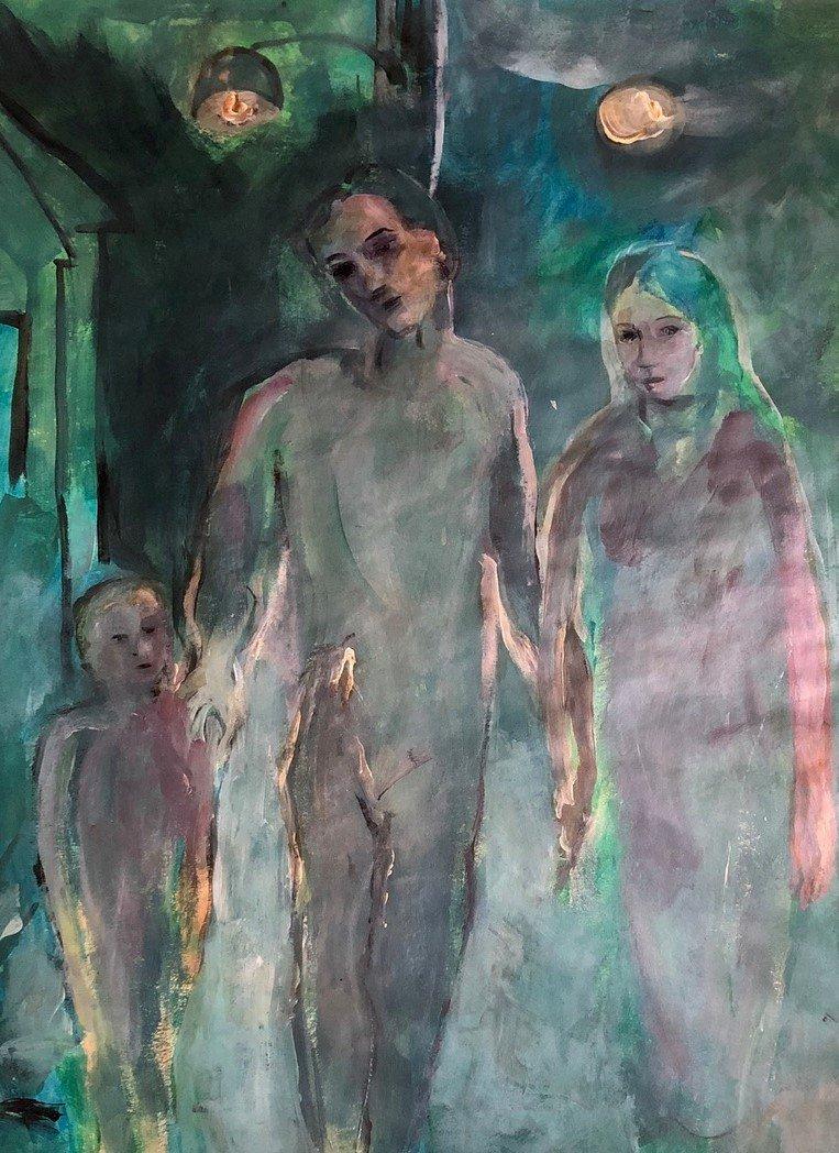 Pablo Picasso Spanish Art Signed Family Blue Era - 2