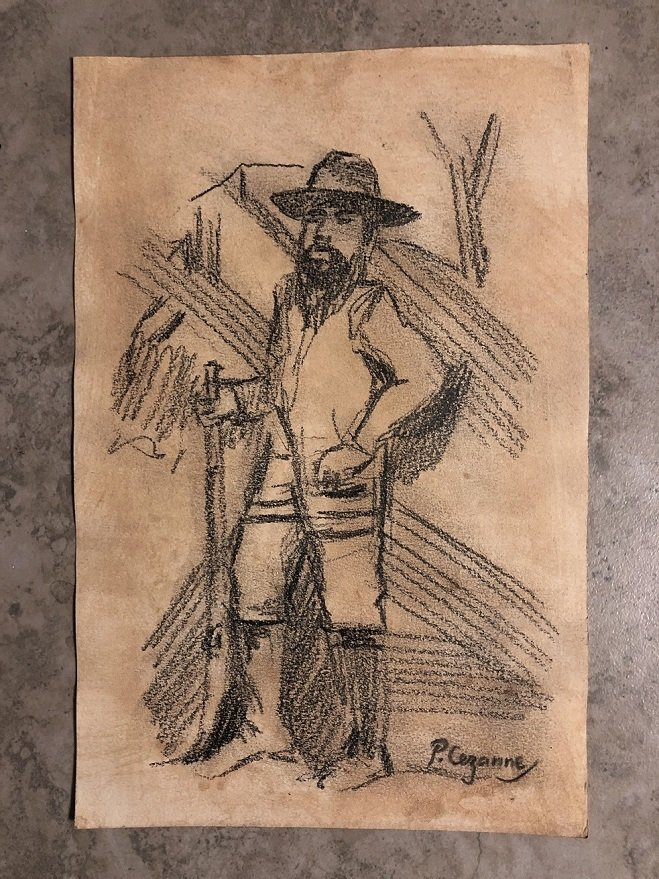 Paul Cezanne Drawing Impressionist French (1839-1906)