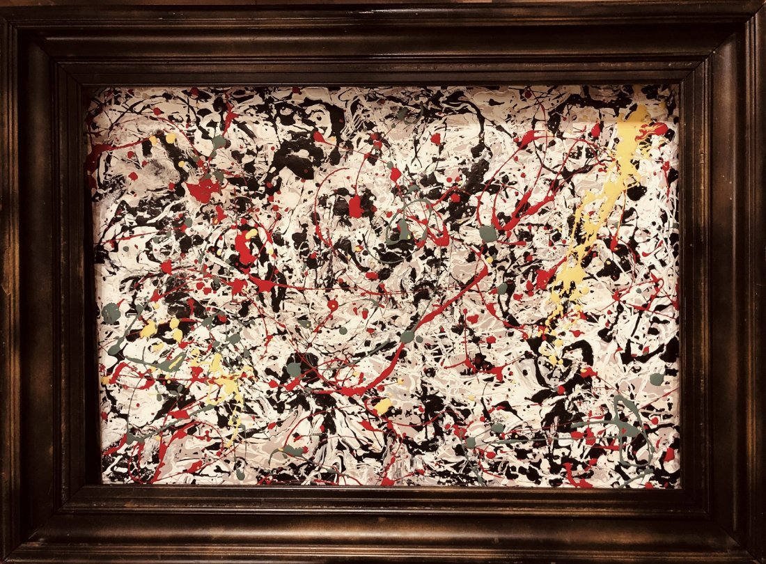 Jackson Pollock American Abstract Expressionist Canvas