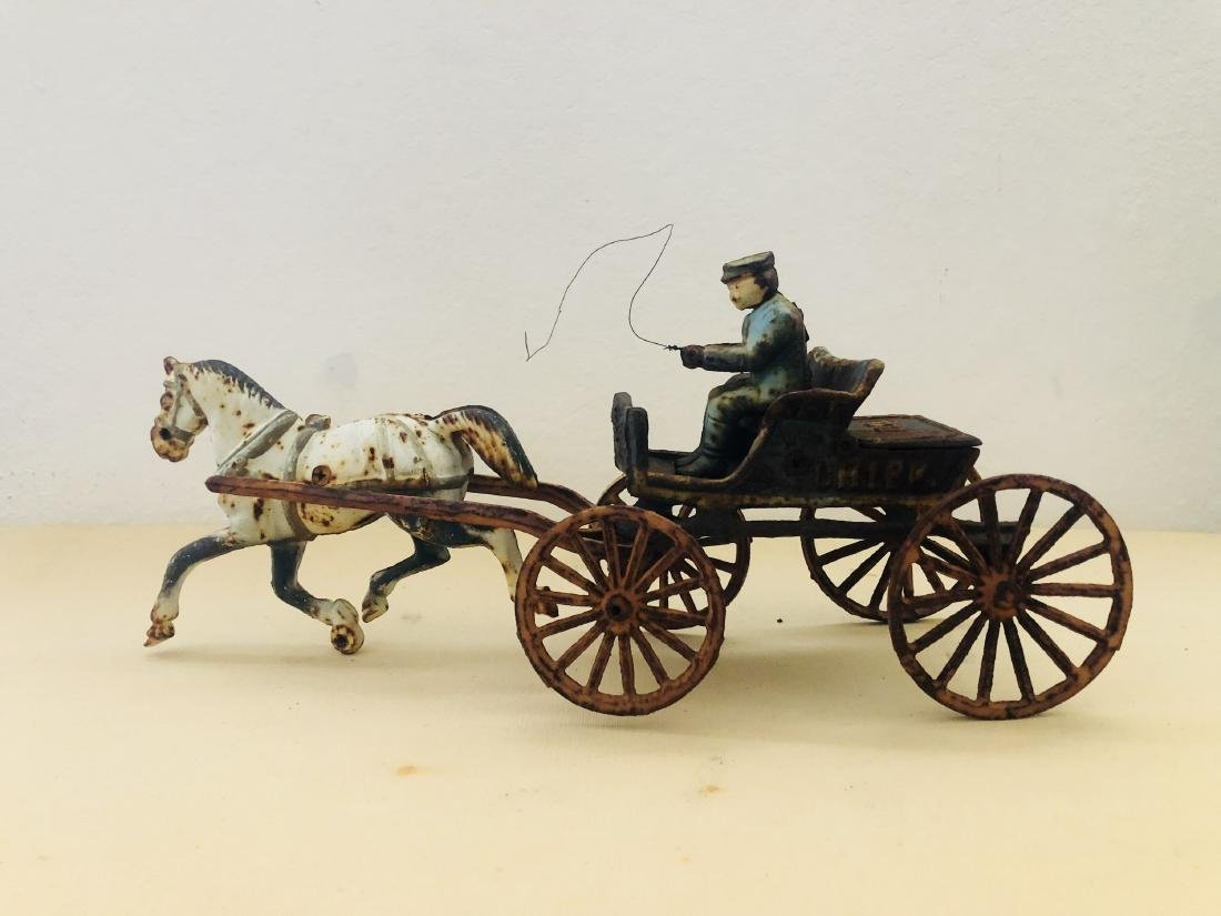Iron Horse Wagon with Rider Antique Vintage
