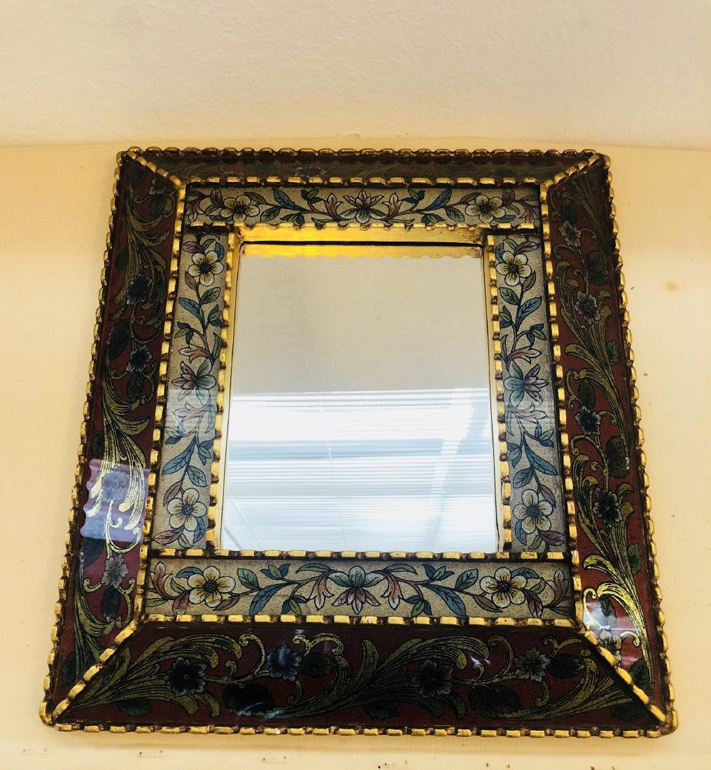 Peruvian Mirror Framed Antique - 2