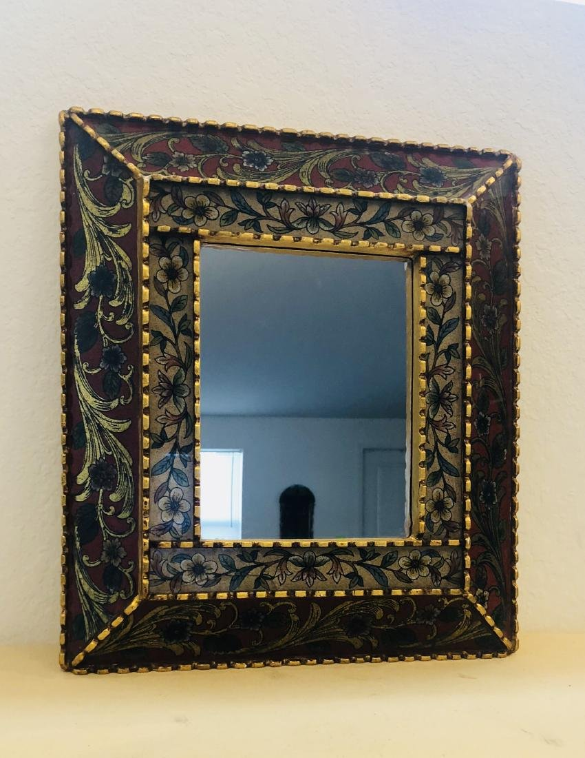 Peruvian Mirror Framed Antique - 3