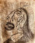 Pablo Picasso Signed Drawing Spanish