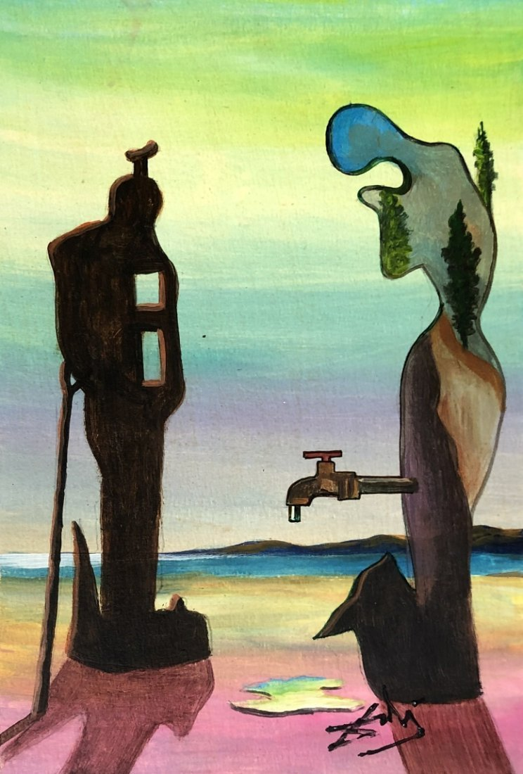 Salvador Dali Mixed Media Surrealism Spanish Art