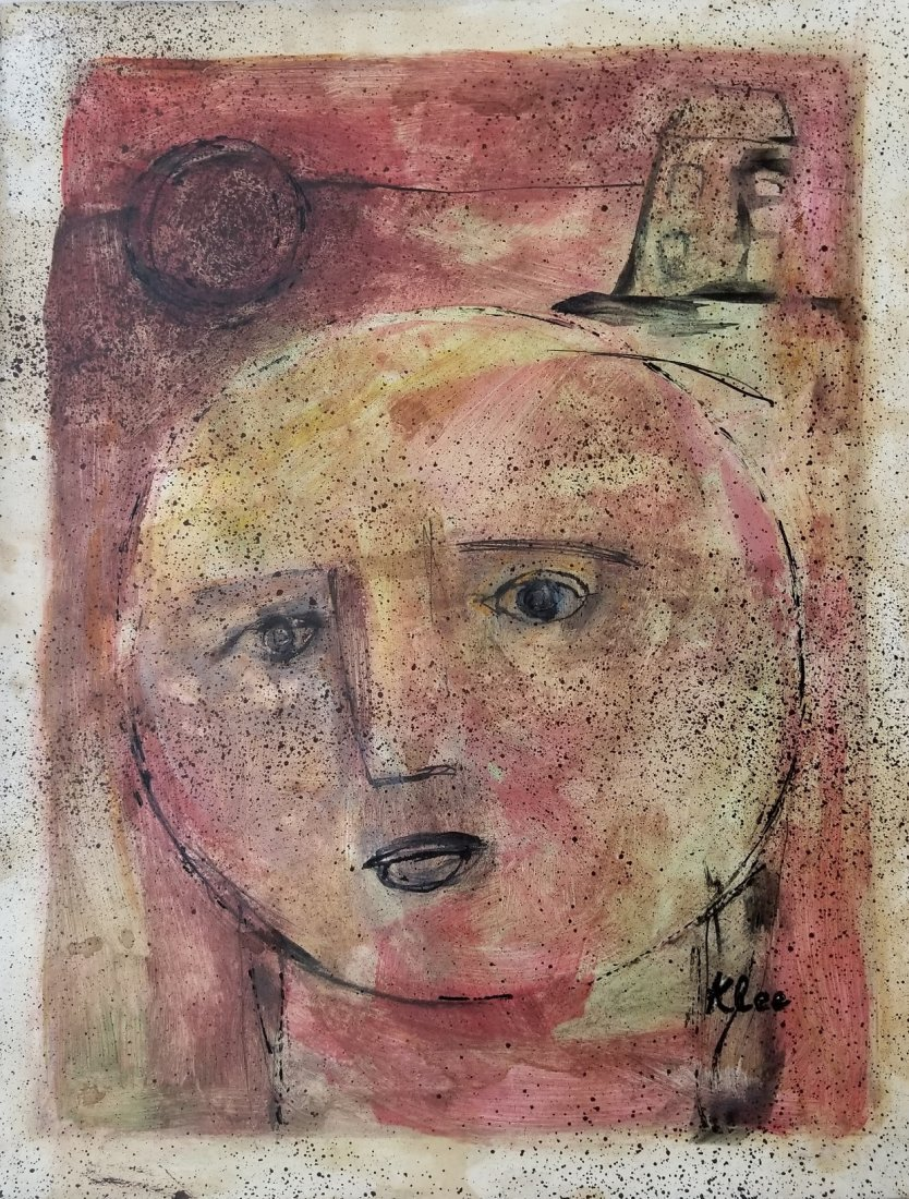 Paul Klee Abstract Figurative Portrait Germa Attributed