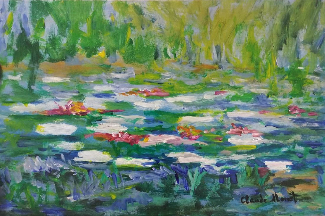 Claude Monet Landscape Impressionism French Attributed.