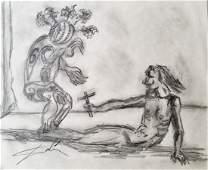 Salvador Dali Spanish Surrealism hand drawn Attrib.