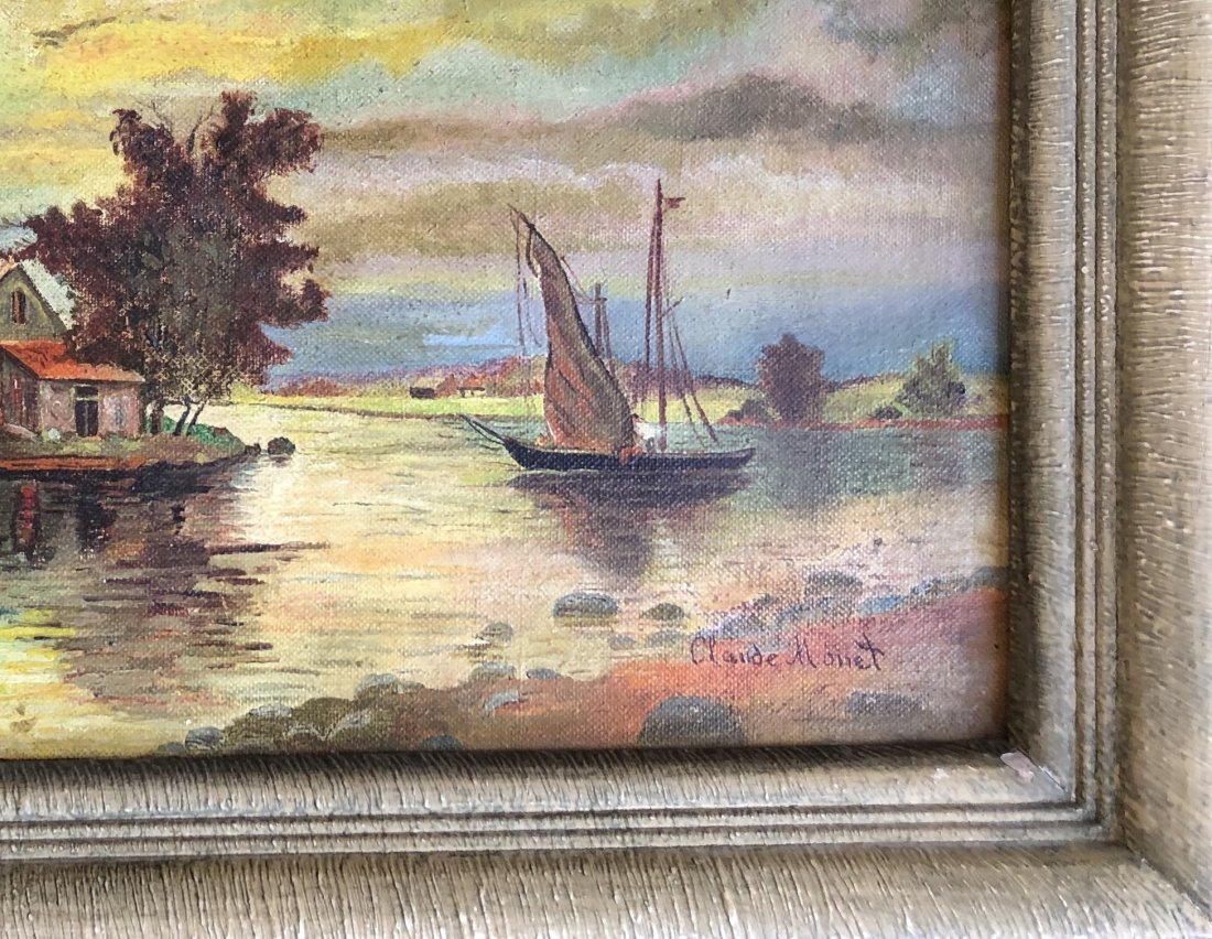 Claude Monet Landscape Impressionist French Attributed - 3