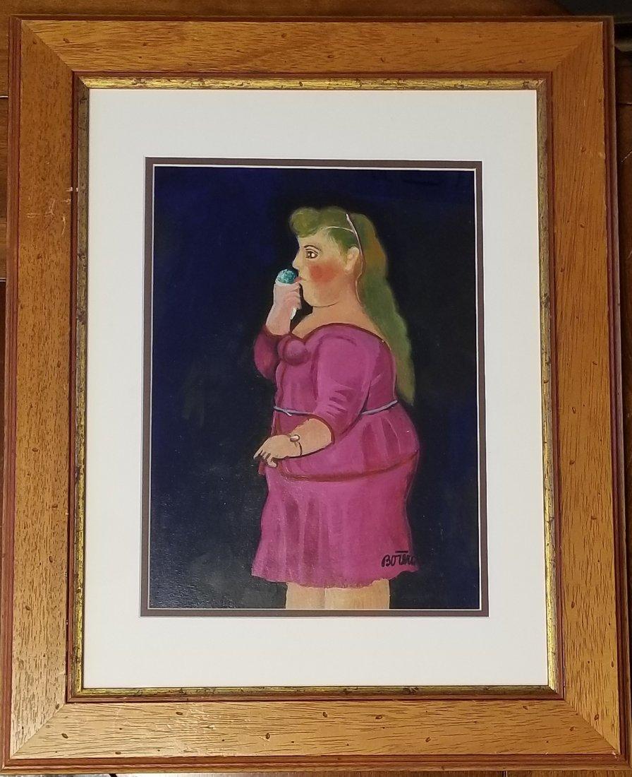 Fernando Botero Drawing Colombian Mixed Media -Style of