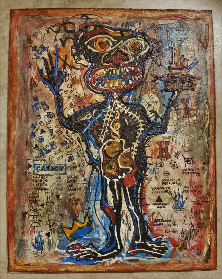 Jean Michel Basquiat Abstract Expressionism; Style of