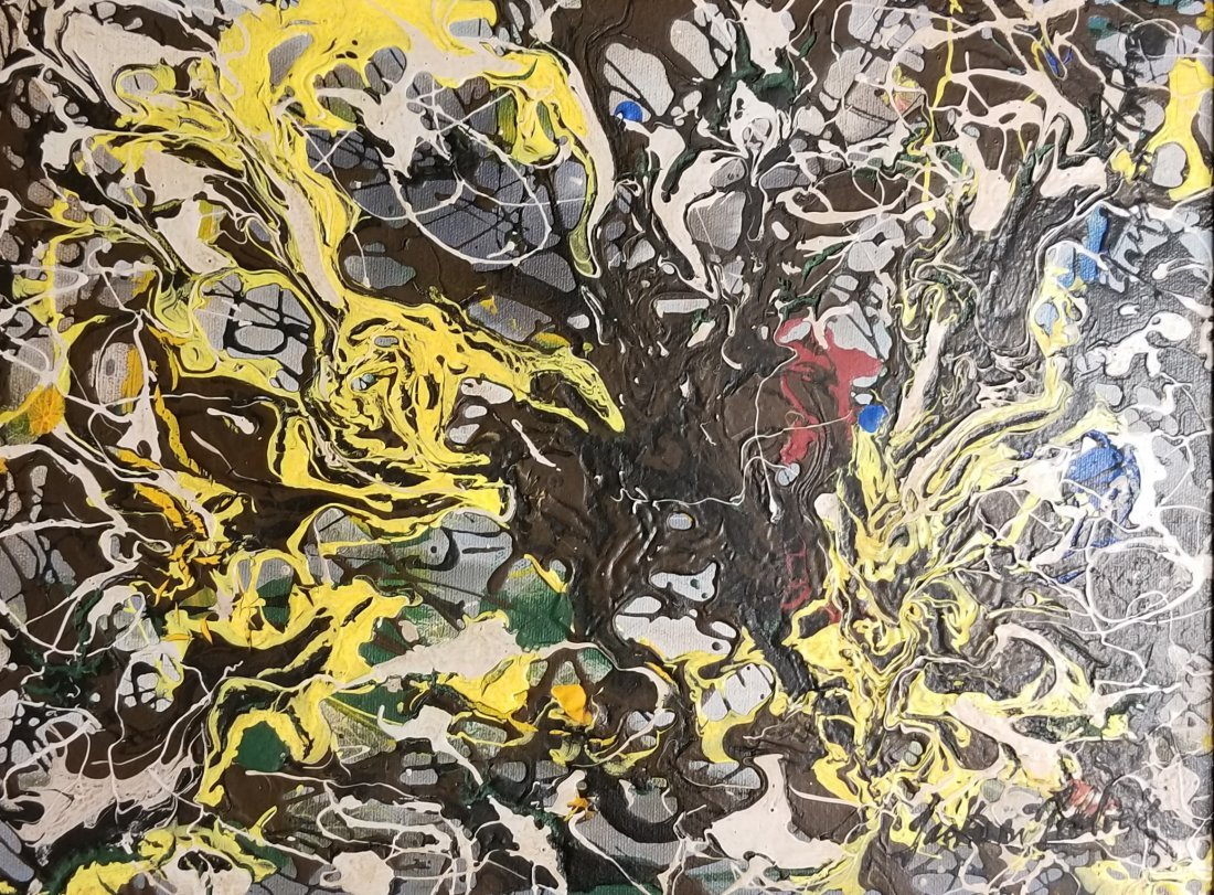 Jackson Pollock Abstract Expressionism 1950's- Style of - 3