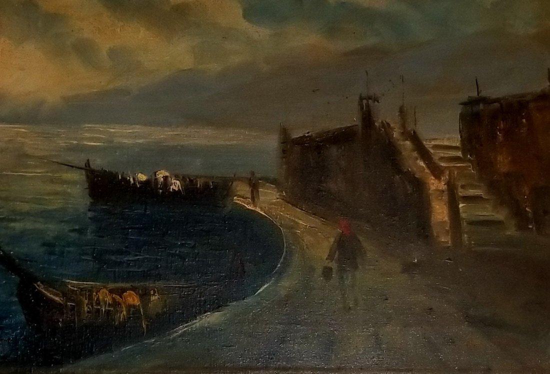 Claudet Monet Landscape Seascape Port Boats - Style of. - 3