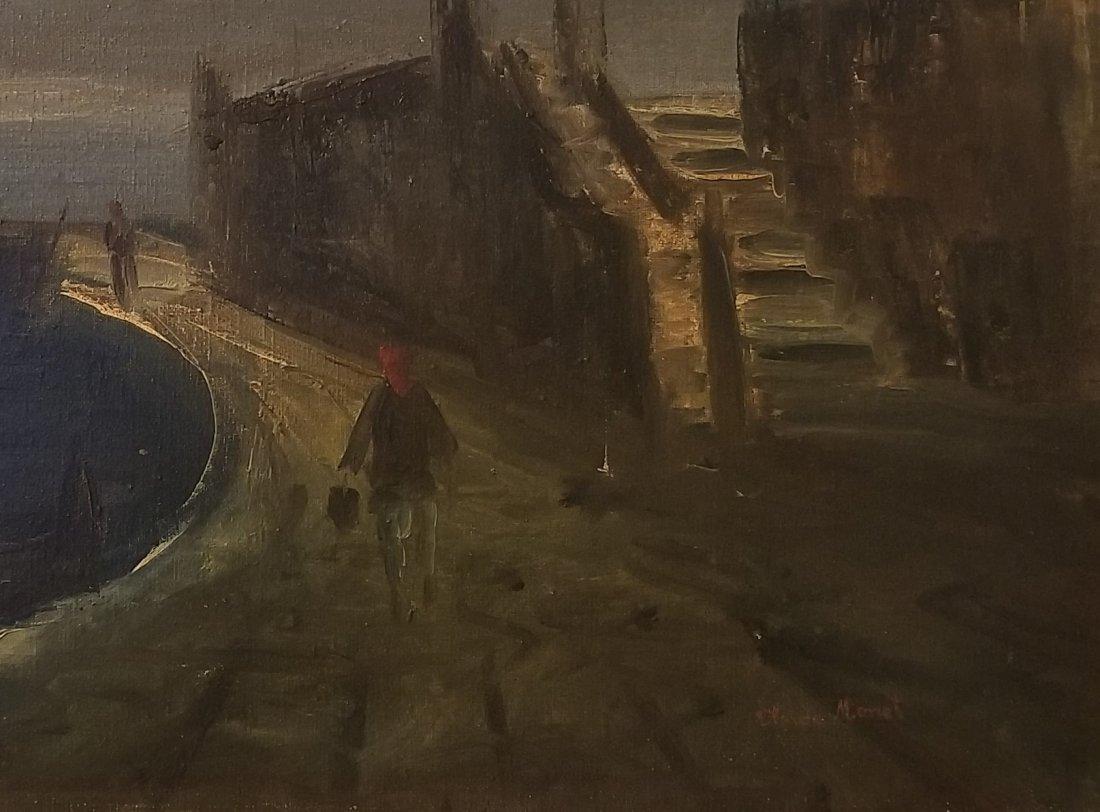 Claudet Monet Landscape Seascape Port Boats - Style of. - 4