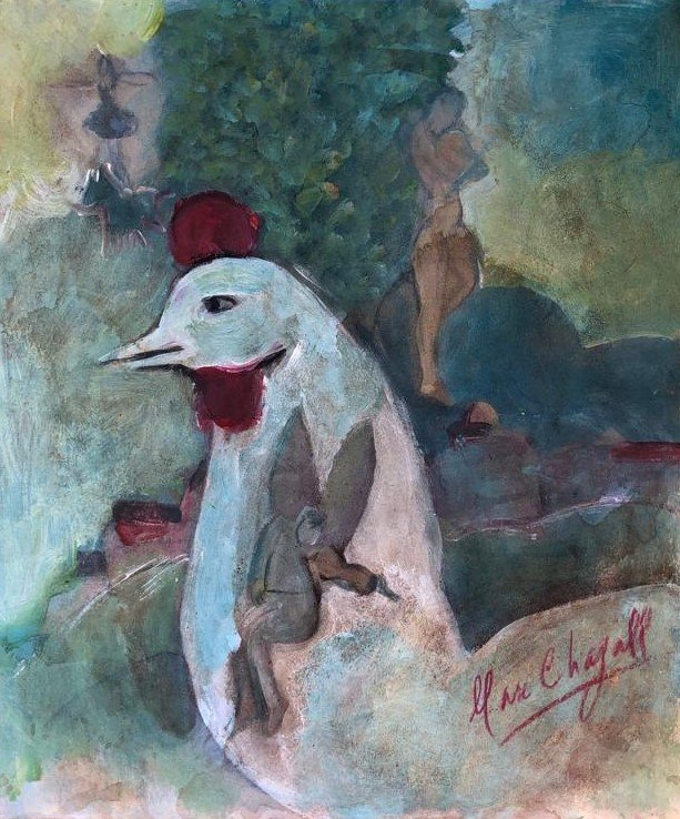 Marc Chagall Russian French Abstract Modernist-Style of