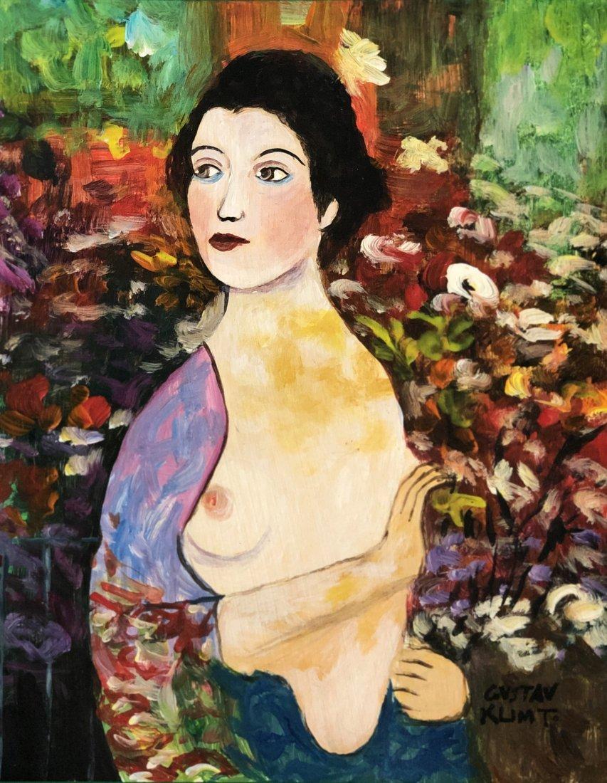 Gustav Klimt Mixed Media Austria Female - Style of.