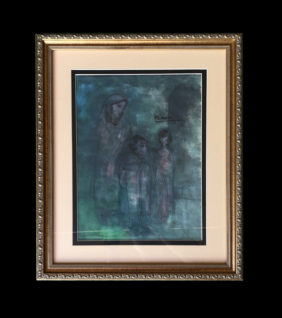 Pablo Picasso Blue Period hand painted Family -Style of