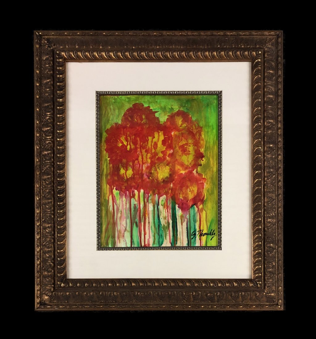 Edwin Parker Cy Twombly Flowers Mixed Media 1928
