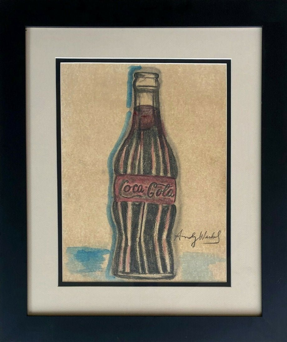 Andy Warhol Pop American Art Coca-Cola Bottle Mixed Med