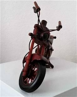 Vintage motorcycle Wood Hand Carved Sculpture