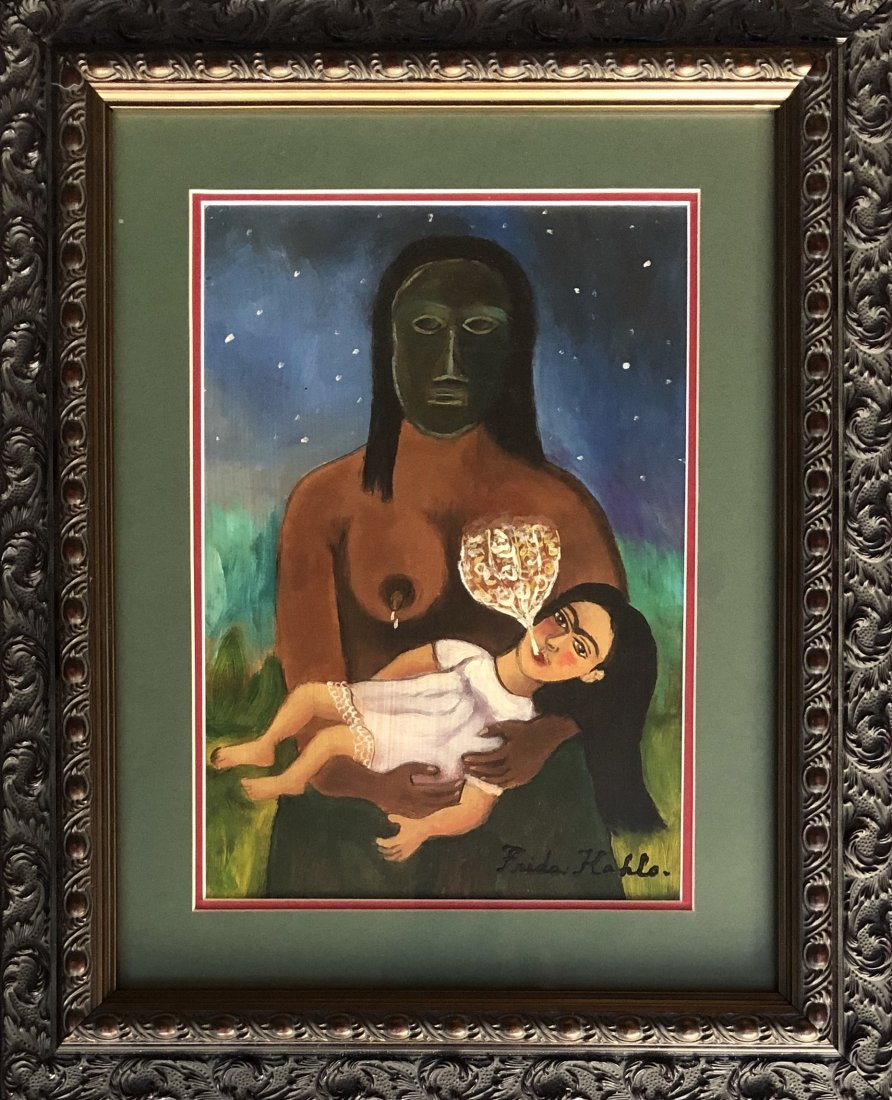 Frida Kahlo Hand Painted Mexican (1907-1950)
