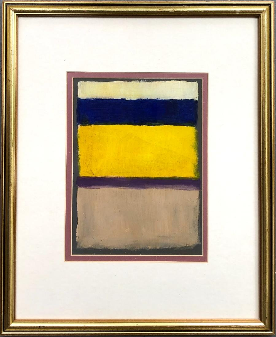 Mark Rothko Hand Painted American Art Expressionist