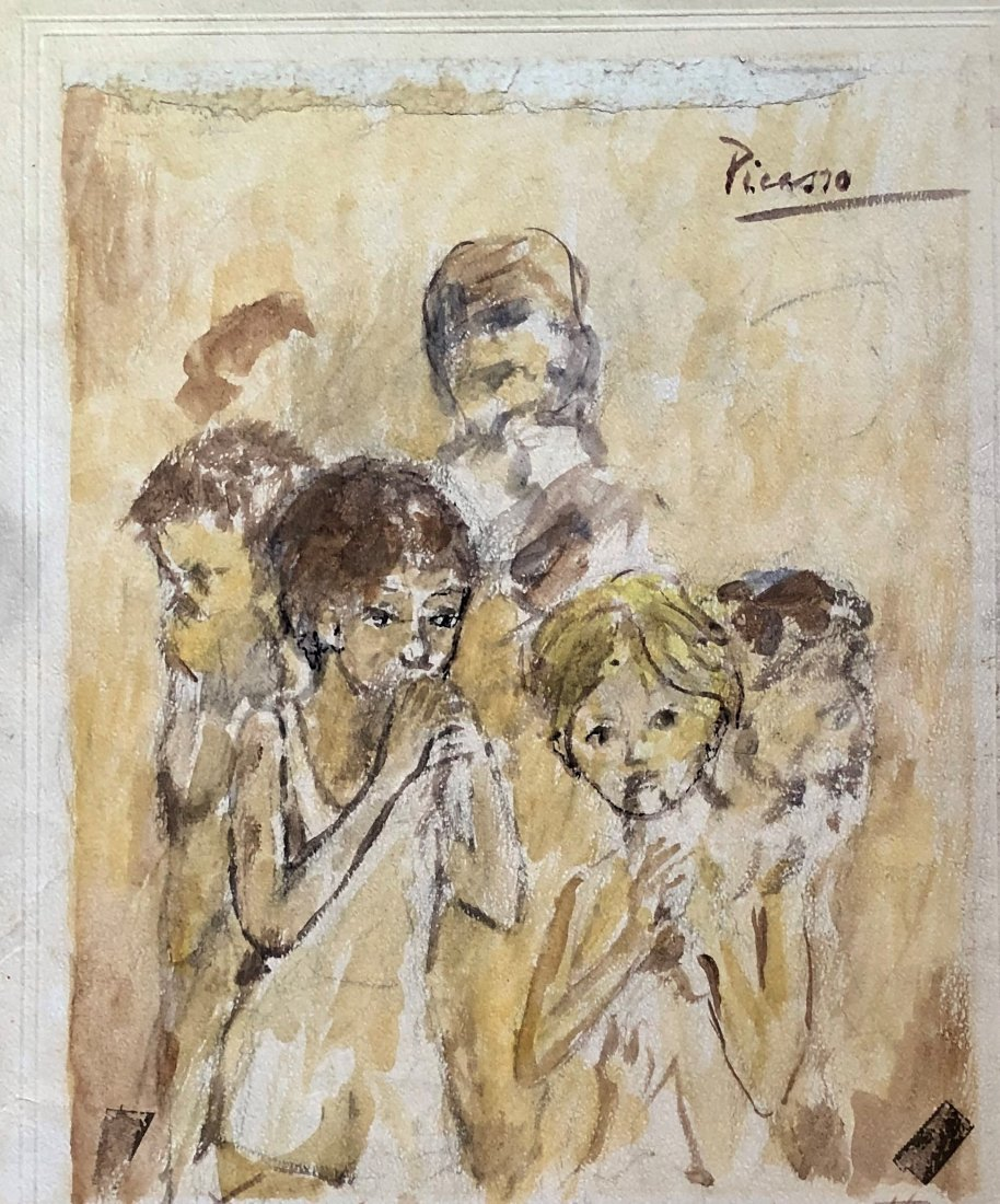 Pablo Picasso Spanish Drawing 20TH Earl Century Art.