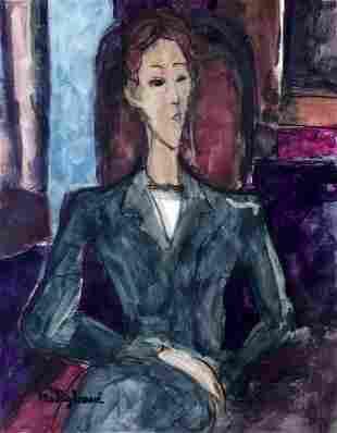 Amedeo Modigliani Expressionism Woman Style of
