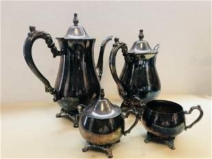 1950s Silverplated Metallic ONEIDA Drinkware Set